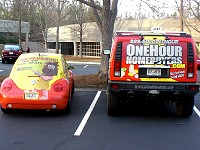 Homevestors Bug & One Hour Homebuyers Hummer