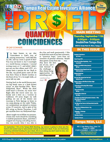 The Profit - The Official Newsletter of Tampa REIA